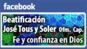 Facebook. Beatificacion Jose Tous y Soler